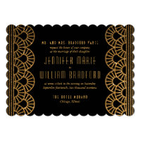 Gold Art Deco Gatsby Inspired Wedding Invitation