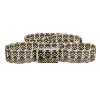 Gold,art deco,nouveau,black,vintage,pattern,chic belt