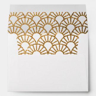 Gold Art Deco Wedding Invitation Suite Envelope