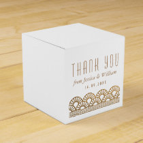 Gold Art Deco Wedding Reception Guest Favor Box