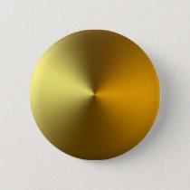 gold art golden pinback button