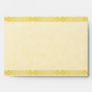 Gold Art Nouveau Filigree Envelope