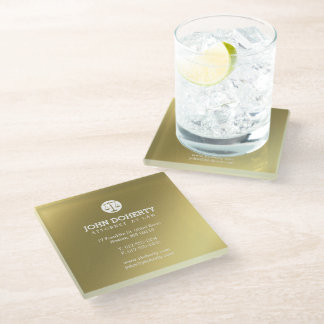 Gold Attorney at Law | Lawyer's contact info Glass Coaster