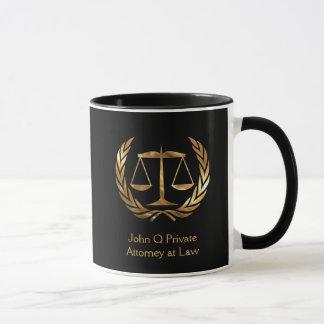 Gold Attorney Scales of Justice Custom Mug