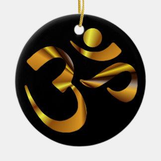 Gold Aum Ceramic Ornament