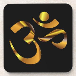 Gold Aum Coaster