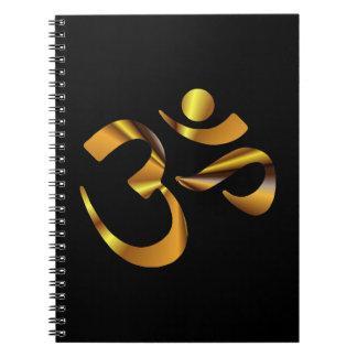 Gold Aum Spiral Notebook