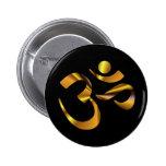 Gold Aum Pinback Buttons