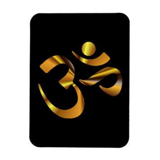 Gold Aum Rectangular Photo Magnet