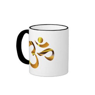 Gold Aum Ringer Mug