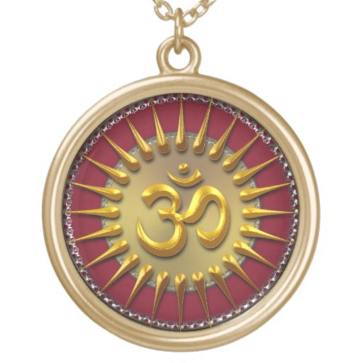 Gold Aum Sun Energy Necklace