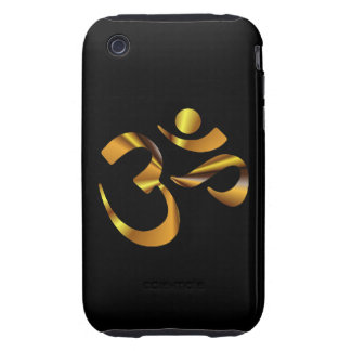 Gold Aum Tough iPhone 3 Covers