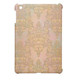 Gold Aurora Fancy Antique Lace Damask Case For The iPad Mini