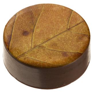 Gold Autumn Leaf Chocolate Covered Oreos