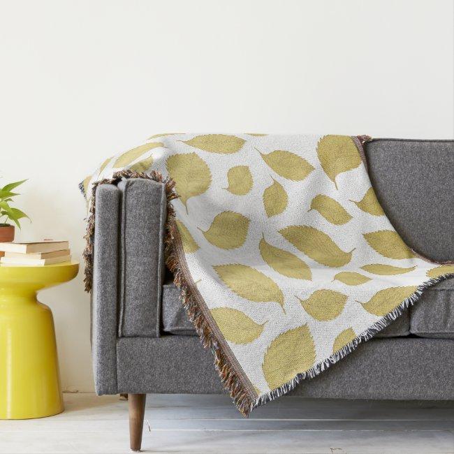 GOLD AUTUMN LEAVES - Throw blanket