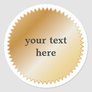Gold Award Sticker - Customizable