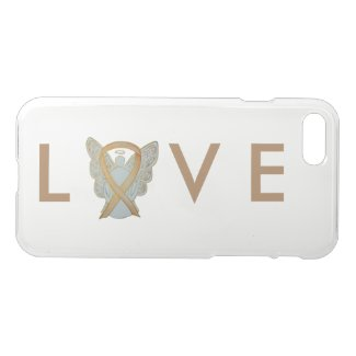 Gold Awareness Angel Ribbon Custom iPhone 7 Case