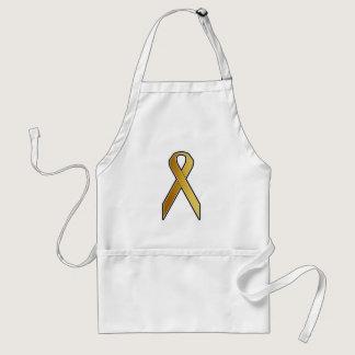 Gold Awareness Ribbon Adult Apron