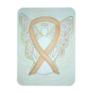 Gold Awareness Ribbon Angel Art Magnet