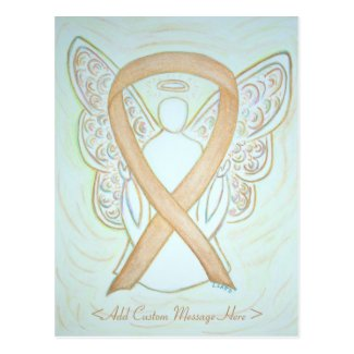 Gold Awareness Ribbon Angel Custom Postcard