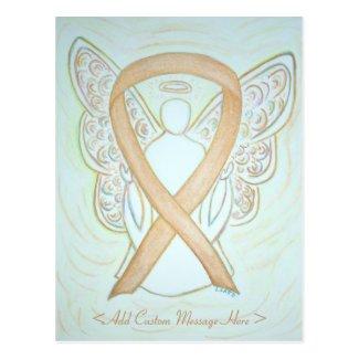 Gold Awareness Ribbon Angel Custom Postcard