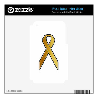 Gold Awareness Ribbon Decal For iPod Touch 4G