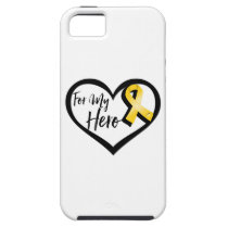 Gold Awareness Ribbon For My Hero iPhone SE/5/5s Case