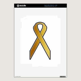 Gold Awareness Ribbon iPad 2 Decal