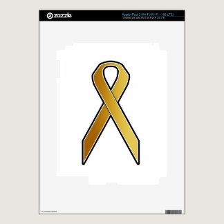 Gold Awareness Ribbon iPad 3 Skins