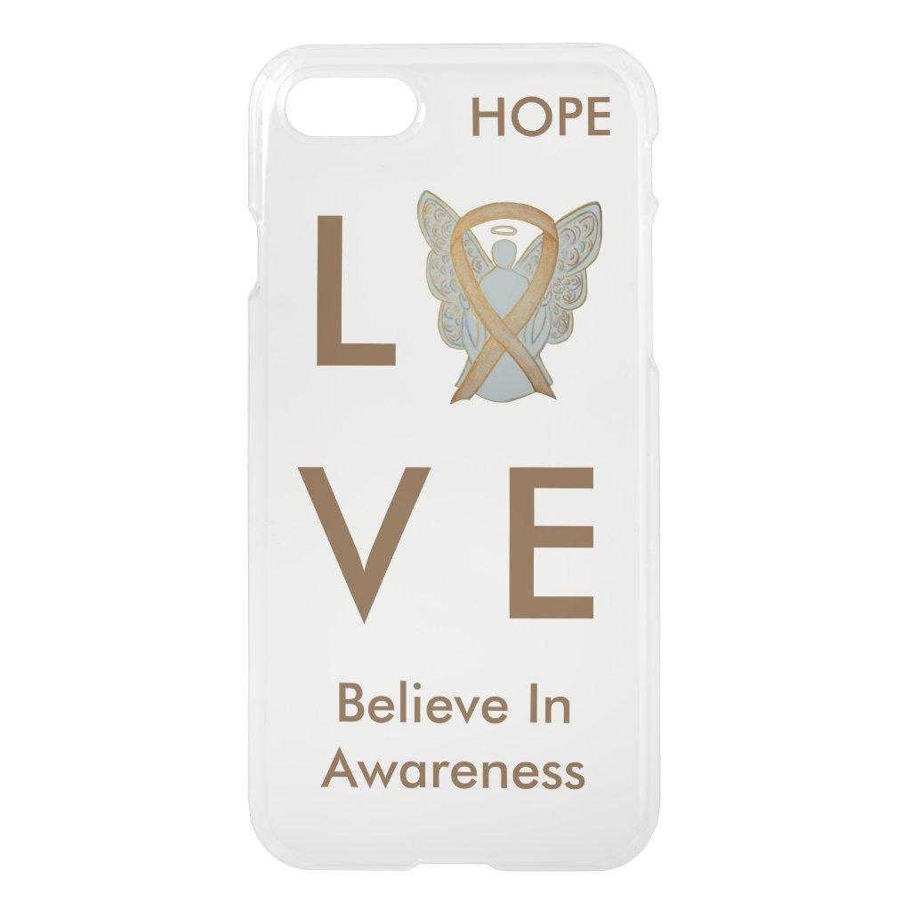 Gold Awareness Ribbon iPhone Custom 7 Angel Case