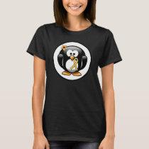 Gold Awareness Ribbon Penguin T-Shirt