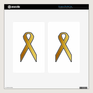 Gold Awareness Ribbon Skin For Kindle Fire