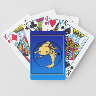 Gold Axie on dark blue Playing cards