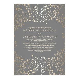 Grey Wedding Invitations Zazzle