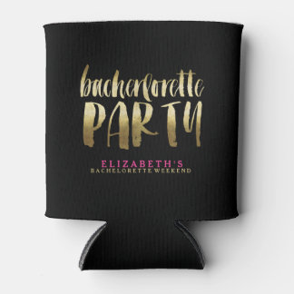GOLD BACHERLOTTE PARTY coozie Can Cooler