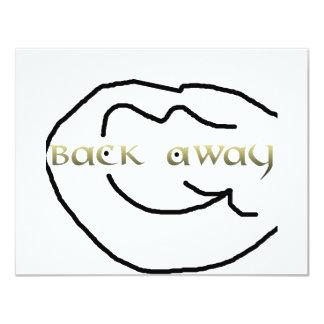 gold back away arrow 4.25x5.5 paper invitation card
