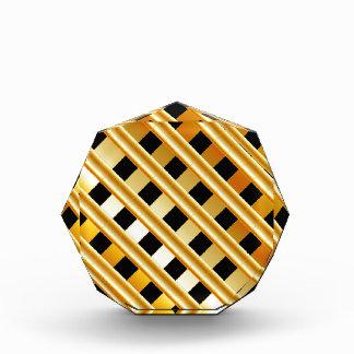 Gold background acrylic award