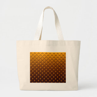 gold background large tote bag