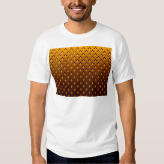 gold background t shirt