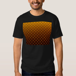 gold background tee shirt