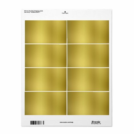 Gold Background Template Label