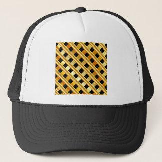 Gold background trucker hat