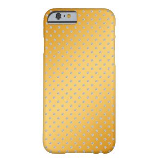 gold background with glitter diamonds barely there iPhone 6 case