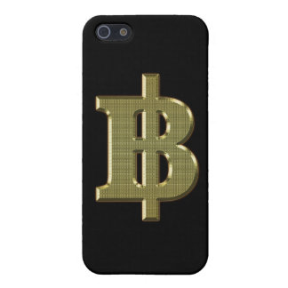 GOLD BAHT SIGN ฿ Thai Money Currency ฿ iPhone Case