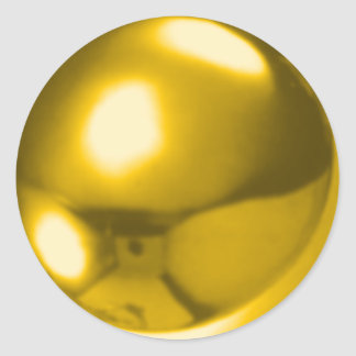 GOLD BALL CLASSIC ROUND STICKER