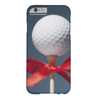 Gold ball on tee with red bow barely there iPhone 6 case