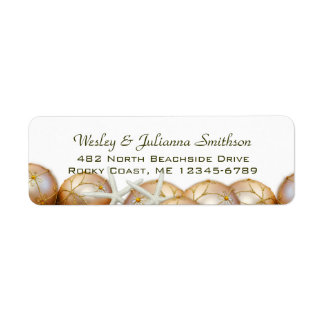 Gold Balls and Starfish Return Address Template Return Address Label