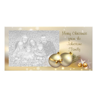 Gold Balls, Bells and Stars Card