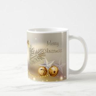 Gold Balls, Bells and Stars Coffee Mug