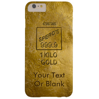 Gold Bar Barely There iPhone 6 Plus Case